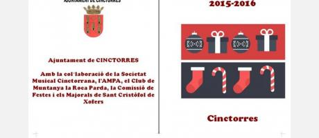 Motivos navideños que nos muestran el cartel anunciador de las actividades navid