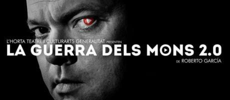 Fotografía en blanco y negro de Orson Welles