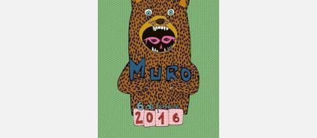 cartel anunciador de carnavales muro 2016