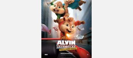 Cartel Alvin y las  Ardillas, Fiesta Sobre Ruedas