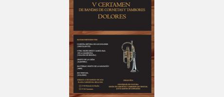 Cartel V Certamen Bandas cornetas y tambores 2016