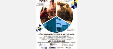 cartel con imágenes talleres de cerámica