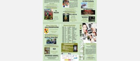 Cartelera Abril 2016 Auditorio de Germanias Manises