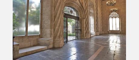 Lonja de la Seda en Valencia - interior