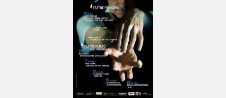 Cartel del ciclo de teatro S Dansa