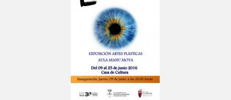 Cartel de la exposición Manu Moya