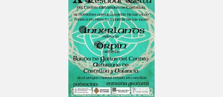 Cartel Festival Celta en Castellón