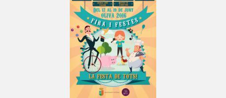 Cartell Fira i Festes Oliva 2016