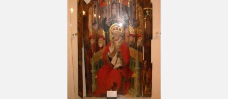 Retablo gótico , imagen de San Pedro Apóstol