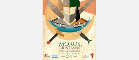 Cartel de Moros y Cristianos del Marítim