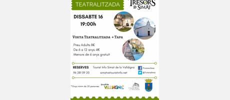 Visita teatralizada Els Tresors de Simat 16 juliol 2016