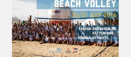 Cartel anunciador del VI Open Valencia Beach Volley