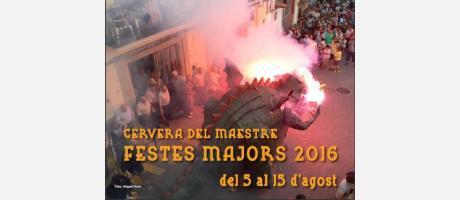 CArtel Fiestas Mayores Cervera