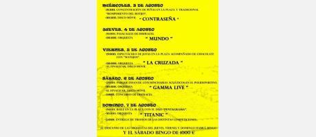 cartel fiestas de Casas Bajas