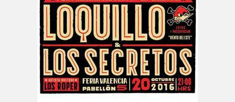 cartel concierto loquillo + los secretos