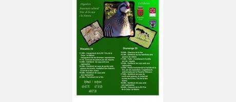 Cartel XV Feria de la caza y naturaleza en Atzeneta