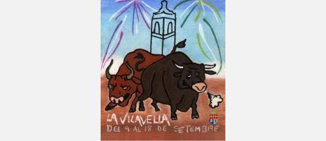 """Cartel Fiestas de """"la Vila"""" en la Vilavella"""