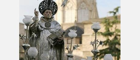Imagen de San Vicente Ferrer en la procesión