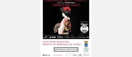 Retrasmisión de la ópera Madama Butterfly desde el Teatro Real