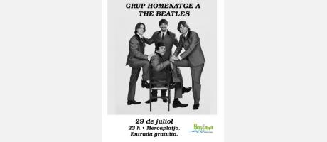Cartel Grupo Homenaje a The Beatles