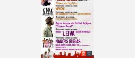 Cartel Conciertos Fiestas Mayores 2017
