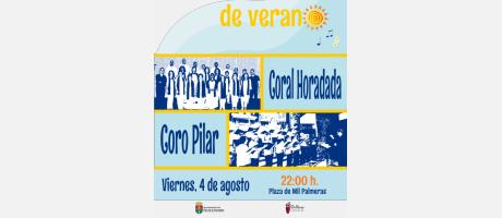 Concierto del Verano de la Coral Horadada y Coro Pilar en Mil Palmeras