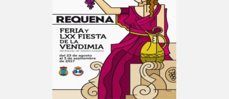 Cartel LXX Fiesta Vendimia Requena