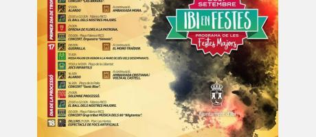 Programa Moros y Cristianos Ibi 2017