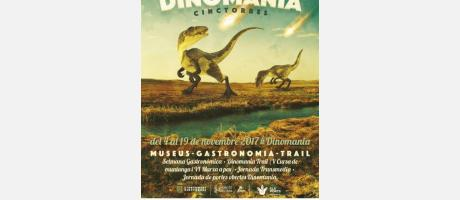 Cartel-Anuncio de la Semana Dinomania en Cinctorres.