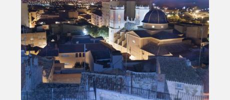 Vistas de la Iglesia y casco antiguo de Petrer