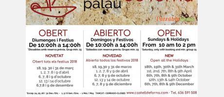 Apertura festivos 2018 Castillo de Forna
