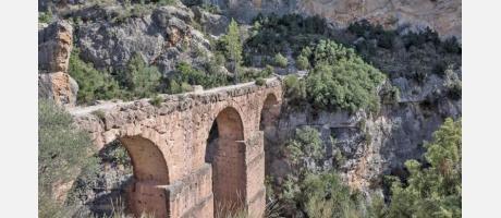 Acueducto de Peña Cortada en Chelva