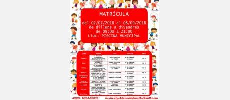 Escoles esportives municipals. Curs 2018-2019 EPNDB