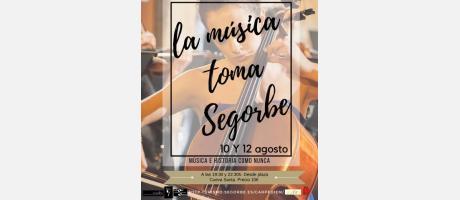 Cartel Visitas musicalizadas en Segorbe