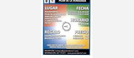 Campus de Verano 'Futsal Paulo Roberto' en Pilar de la Horadada