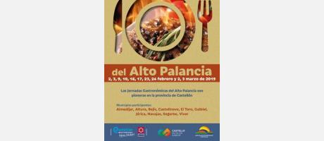Cartel Jornadas Gastronómicas Alto Palancia