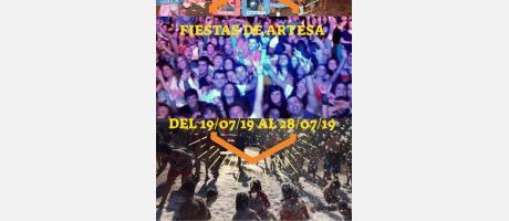 Cartel Fiestas Artesa 2019