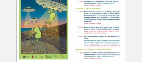 "IV Festival Internacional de cortometrajes ""CORTOPILAR 2019"""