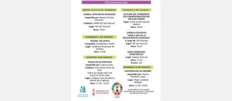 Cartel Jornadas de la Mujer Dolores  2020