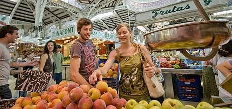 Frutas en el mercado de Valencia