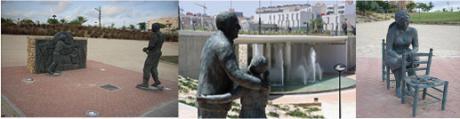 Conjunto escultórico de Carmen Fraile en El Campello