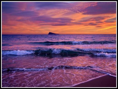 Benidorm, puesta de sol
