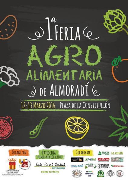 Cartel con patrocinadores de la primera Feria Agroalimentaria en Almoradí