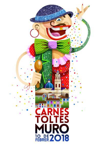 Cartel anunciador del Carnaval 2018 en Muro