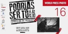 Cartel de la exposición World Press Photo con la imagen de un refugiado