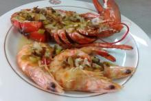 Restaurante Hostería del Mar frente a la playa