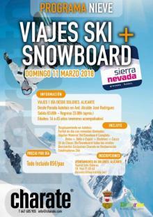 Cartel Jornada de esquí y snowboard 2018