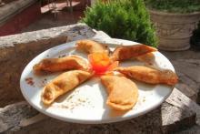 Mittagessen in der Burg von Morella, im Restaurant Marqués de Cruïlles