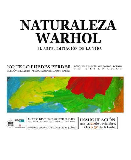 Naturaleza Warhol en el Museo de Ciencias Naturales de Valencia