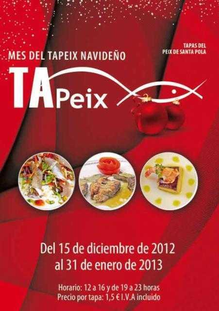 """""""Tapeix Navideño"""" de tapas en Santa Pola"""